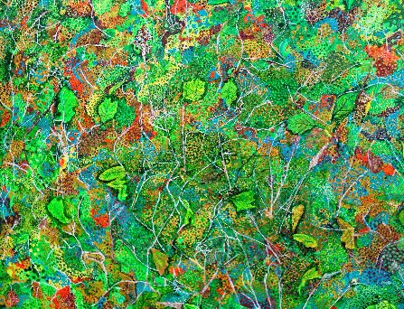 Green Fuse. Mixed media on canvas. 80x100cms